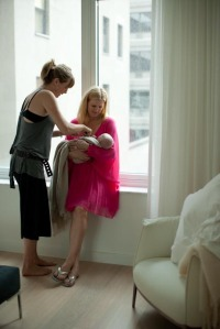 Kathryn Langsford Preparing for NYC On Location Photo Shoot