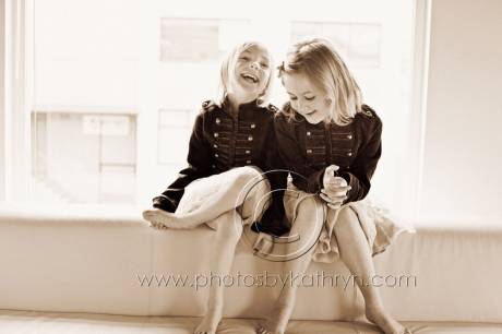 Sisters Laughing - Photos By Kathryn Family Photography