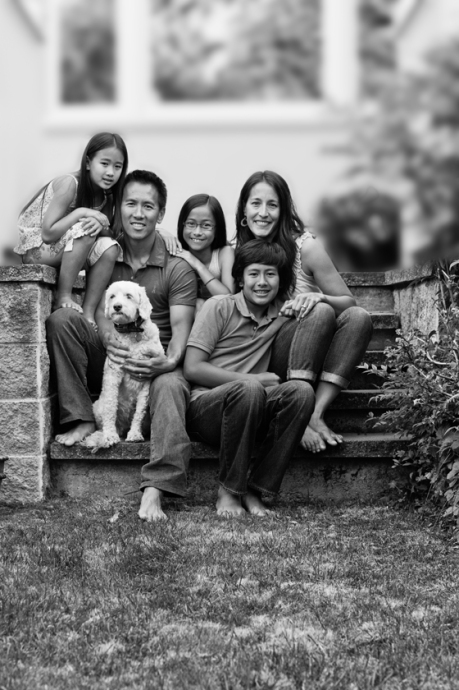 Lee family portrait session on-location in Victoria.